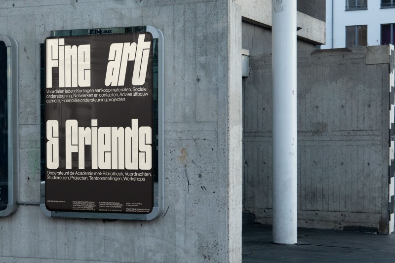 Fine Arts and Friends, a brutal but friendly visual identity.